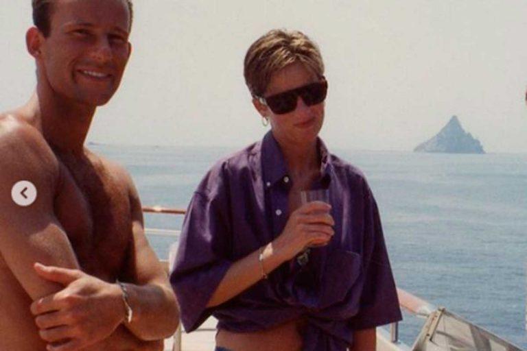 Las fotos inéditas de Diana de Gales en biquini en un crucero con Kyril de Bulgaria (y con volcán de fondo)