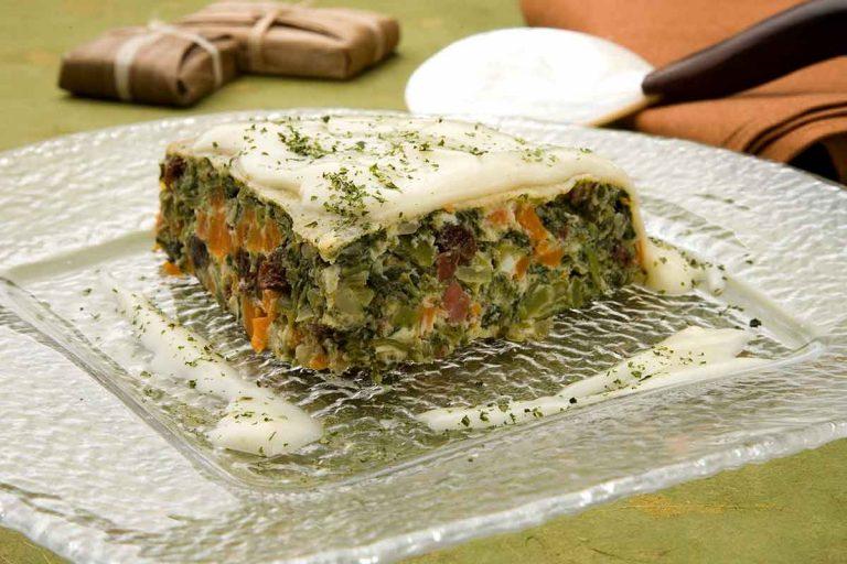 Budín de verduras
