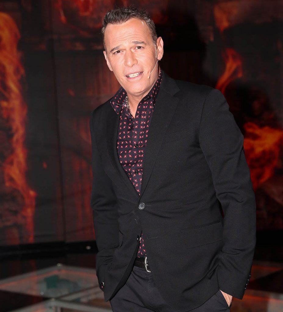 """Presenter Carlos Lozano during """" La Gala de Supervivientes """" tv show in Madrid on Sunday 08 March 2020."""