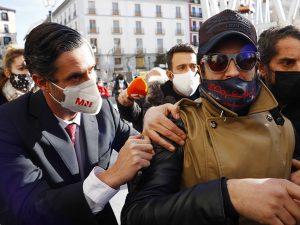 Rafael Amargo, en el teatro de La Latina para estrenar su obra, pese al escándalo de su detención