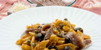 PASTA CON ANCHOAS