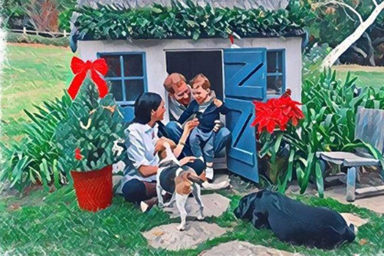 La original felicitación de Navidad de Meghan Markle, Harry y el pequeño Archie