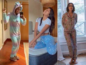 El pijama, el look que ha triunfado en 2020: así se van a dormir los famosos