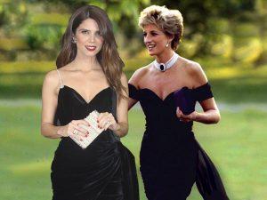 Juana Acosta se inspira en uno de los primeros looks de Diana de Gales y brilla tanto como ella