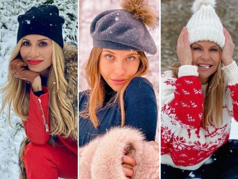 Los famosos reciben la nieve con mucha ilusión y espectaculares fotos