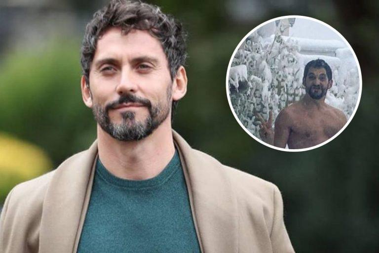 Paco León, tras los pasos de Cristina Pedroche: Posa desnudo para desafiar a la nieve