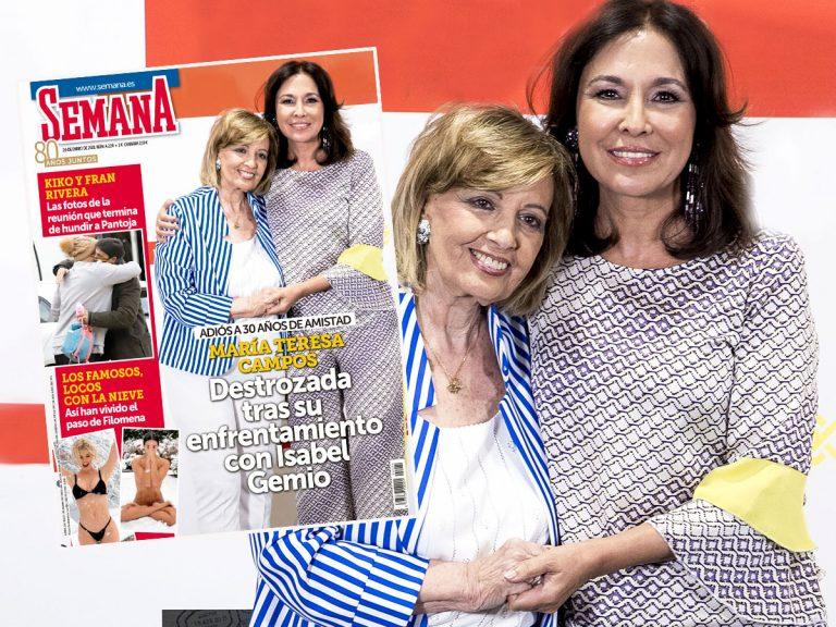 En SEMANA, María Teresa Campos, destrozada tras su enfrentamiento con Isabel Gemio