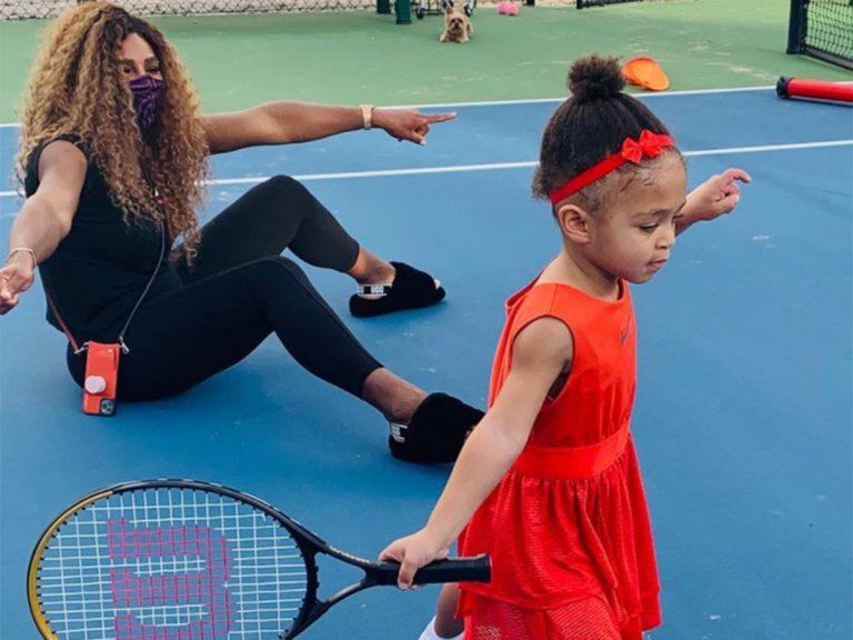 Serena Williams (y sus fans) alucina con la destreza de su hija con la raqueta
