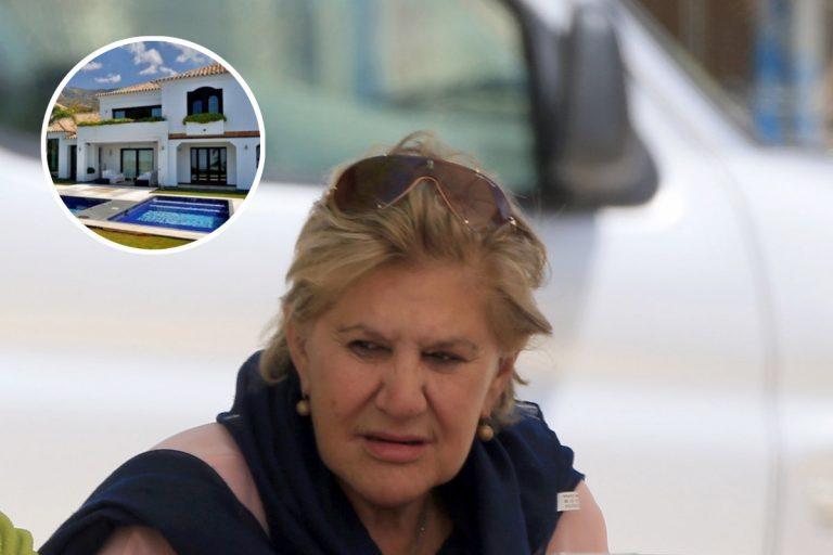 Carmen Bazán pone tierra de por medio y se muda a la mansión de su yerno, Luis Masaveu, en Marbella