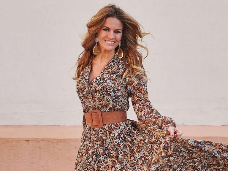 Marta López sorprende de largo con un vestido de lo más bonito