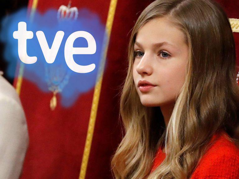 TVE despide a los responsables del polémico rótulo sobre la princesa Leonor: «Se va de España, como su abuelo»