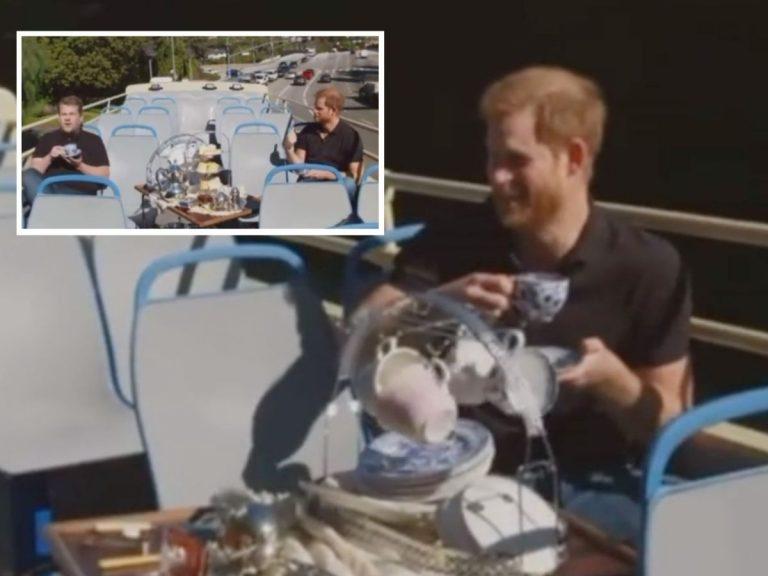 La divertida entrevista del Príncipe Harry en el programa de James Corden