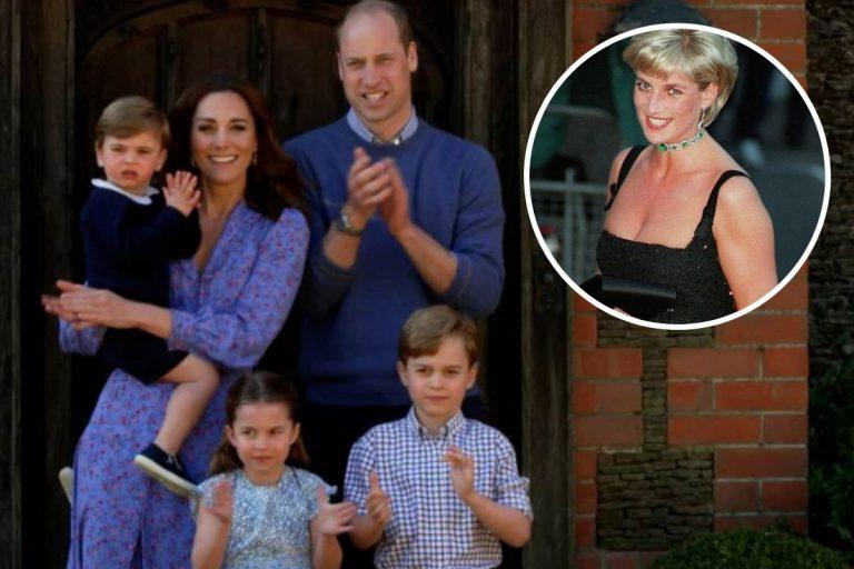 Las tiernas cartas de los hijos de los duques de Cambridge a la «abuelita Diana»