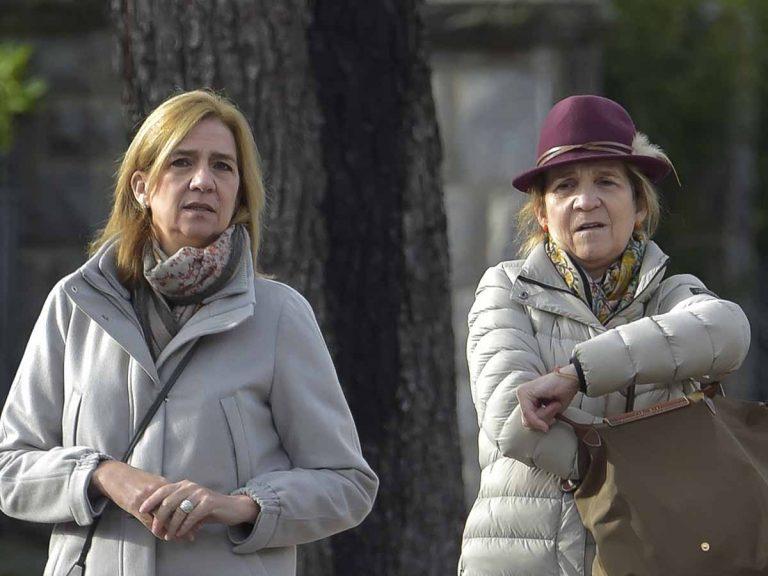 Las infantas Cristina y Elena confirman que se han vacunado del Covid: esta es su excusa