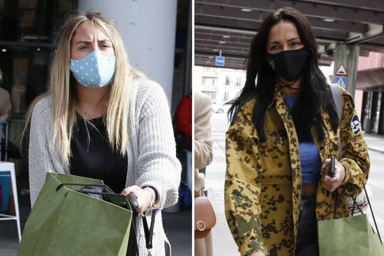 Rocío Flores y Olga Moreno van a un despacho de abogados a su llegada a Madrid