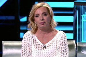 La pullita de Carmen Borrego a Bigote Arrocet en el plató de 'Supervivientes 2021'