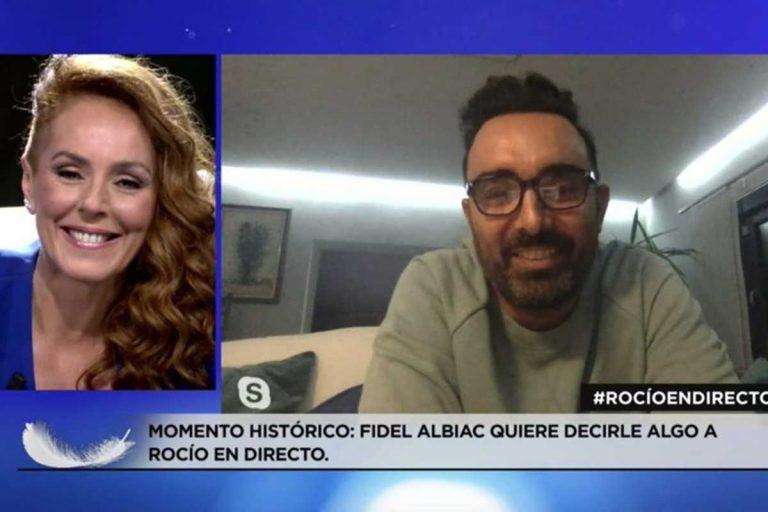 Fidel Albiac sorprende a Rocío Carrasco en directo para mostrarle su apoyo
