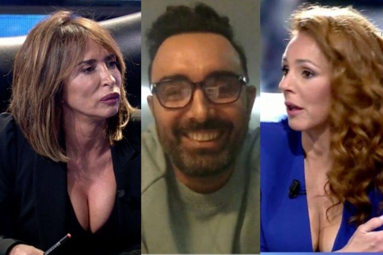 El rifirrafe entre María Patiño con Rocío Carrasco y Fidel Albiac en directo