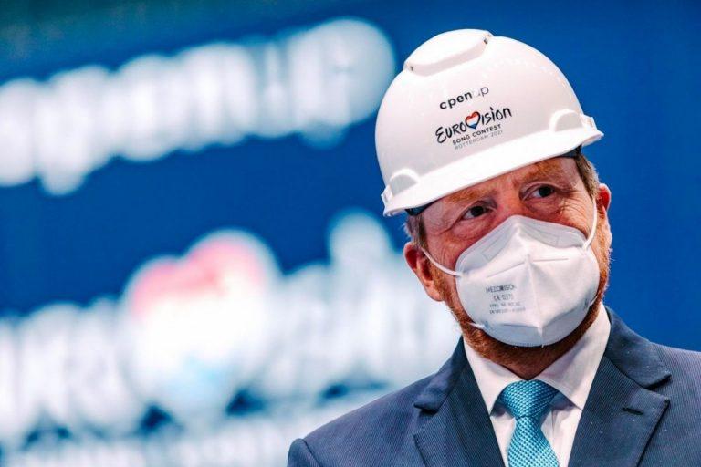 Guillermo de Holanda supervisa la construcción del escenario de Eurovisión 2021