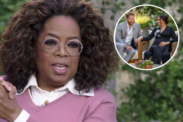 Oprah Winfrey desvela lo que no se vio de su entrevista a Harry y Meghan Markle