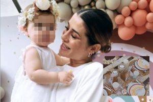 Entramos en el coqueto bautizo de Camila, la hija de Elena Tablada