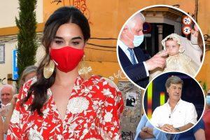 Bárbara Mirjan suple la ausencia de Cayetano Martínez de Irujo en el bautizo de la hija de los duques de Huéscar