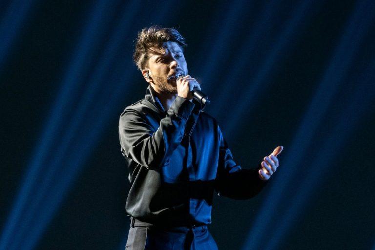 La emoción de Blas Cantó en su primer ensayo en Eurovisión 2021