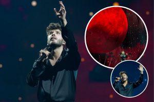 Sobriedad y una gigantesca luna, las claves de la puesta en escena de Blas Cantó para Eurovisión 2021