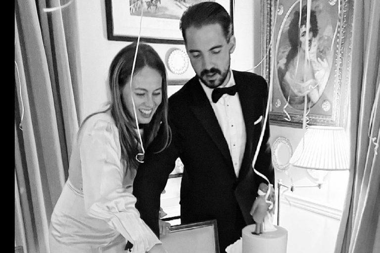 Las divertidas fotos de la reboda de Philippos de Grecia y Nina Flohr con sus amigos en una mansión inglesa
