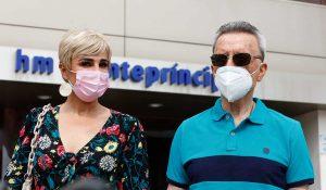 Ana María Aldón, muy preocupada por el estado de salud de su madre y José Ortega Cano