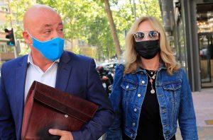 Belén Rodríguez sale del juzgado tras un acto de conciliación con Raquel Mosquera