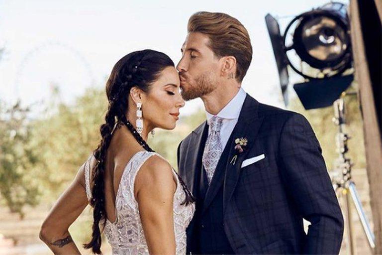 La tierna felicitación de Pilar Rubio a Sergio Ramos por el aniversario de su boda: «Que nunca dejemos de besarnos en la frente»