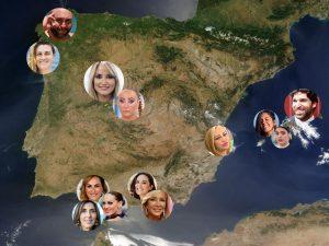 Situamos en el mapa a los famosos en verano: ¿dónde puedes verlos en vacaciones?