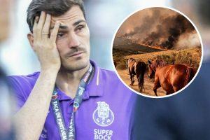 Iker Casillas llora el incendio de su pueblo, Navalacruz