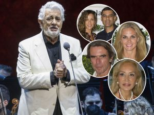 Plácido Domingo, arropado por decenas de famosos como Aznar, Lomana o Genoveva Casanova