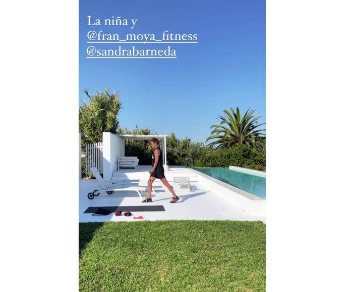Sandra Barneda ejercicios