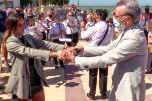 Ortega Cano, Gloria Camila y Amador Mohedano rinden tributo a Rocío Jurado en Chipiona
