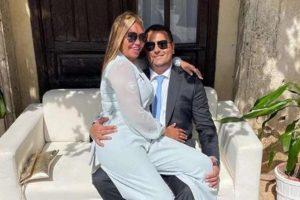 La felicidad de Belén Esteban en la boda de unos amigos