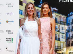 Nieves Álvarez y Ana Obregón brillan sobre la alfombra naranja del FesTVal de Vitoria