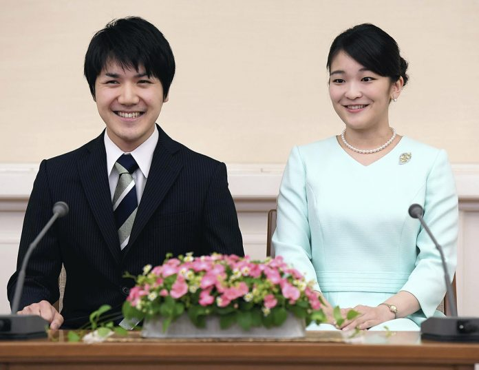 princesa Mako y Kei Komuro