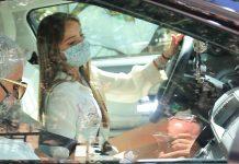 Gloria Camila coche