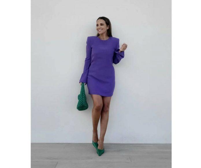 Paula Echevarría color block