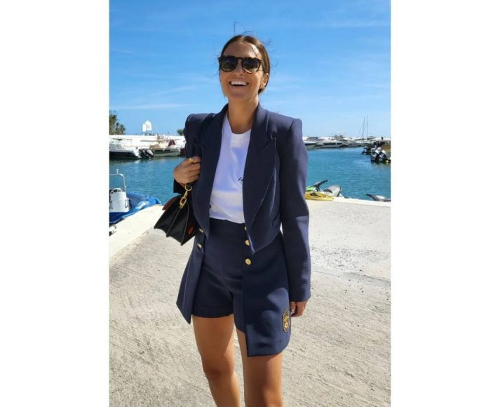 Paula Echevarría traje pantalón